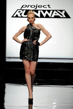 Project Runway designer Andy South winning Epi 3 design