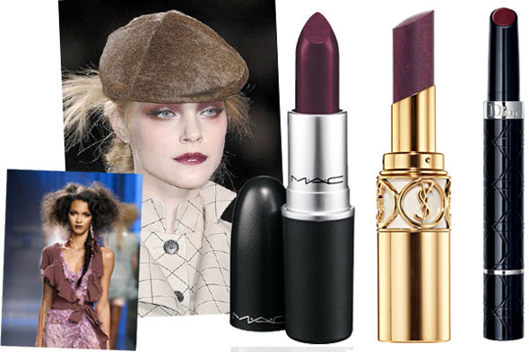 Maquillaje perfecto. Purple-makeup-color-trends-fall-2010-lips590do081010
