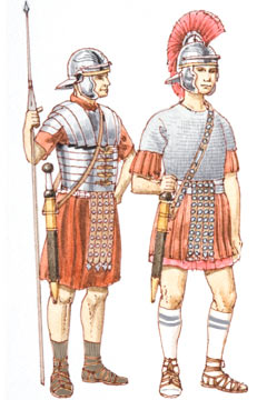 ancient Romans socks and sandals