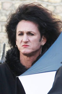 sean penn drag woman wig lipstick this must be the place set