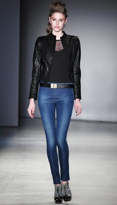 model runway jeggings Twenty8Twelve show London Fashion Week Fall 2009