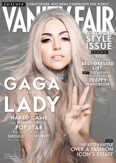 Vanity Fair September 2010 style issue cover Lady Gaga nude gray hair