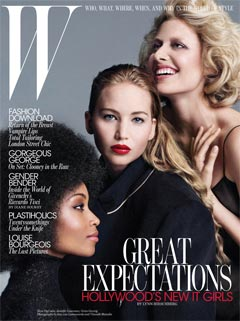 W Magazine September 2010 cover Great Expectations redesign