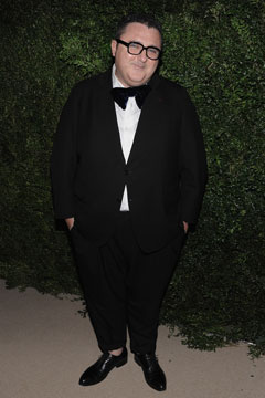 Lanvin creative director Alber Elbaz black tie