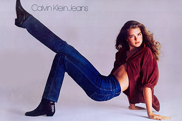 Brooke Shields in her controversial 1980 Calvin Klein Jeans ad.