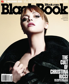 Christina Ricci BlackBook magazine cover