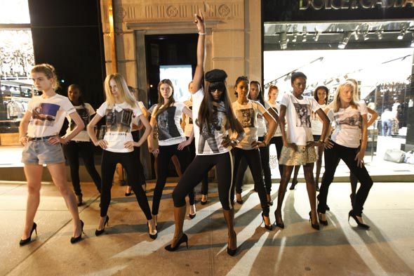 Naomi Campbell New York City Fashion's Night Out 2010 dancers
