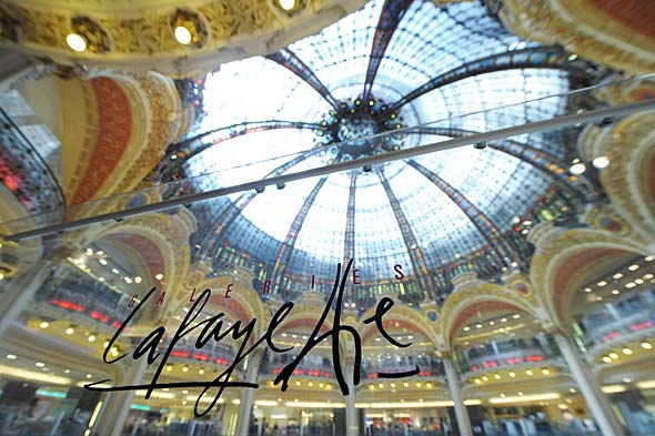 Parisian department store Galeries Lafayette