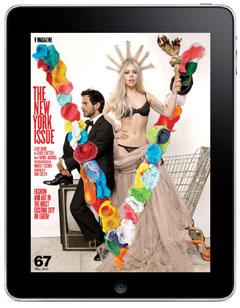 Lady Gaga Marc Jacobs V Magazine Ipad app