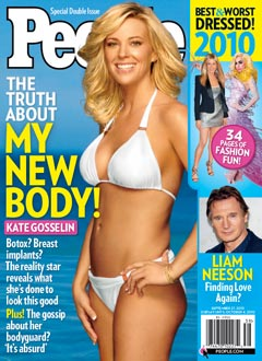 Kate Gosselin People Magazine cover white bikini