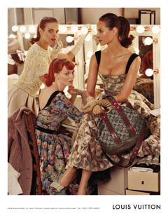 Louis Vuitton fall 2010 ad campaign backstage dressing room
