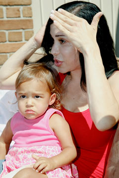 Octomom Nadya Suleman daughter Nariah Solomon yard sale auction