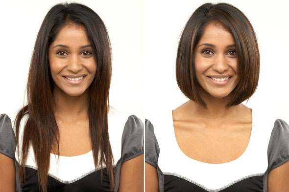 Perfect Haircut For Face Shape Thick Wavy Hair Indhu Before And
