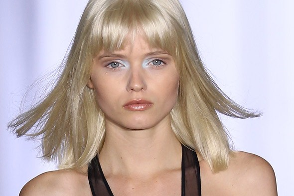 natural makeup pale blue eyes Preen Spring 2011 New York Fashion Week