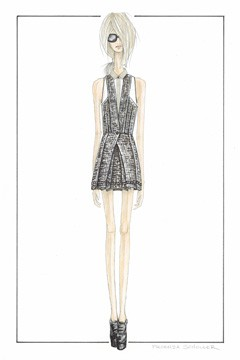 WWD and Gilt Groupe Proenza Schouler inspirational sketch