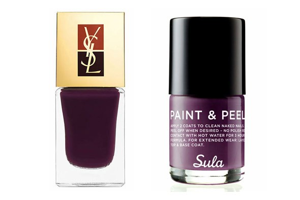 YSL Manicure Couture in Belle de Nuit Sula Paint & Peel in Crush