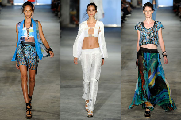 Rag &amp; Bone Spring 2011 fashion week runway harnesses white suit gypsy