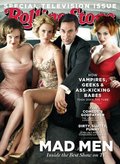 rolling stone television issue cover mad men cast