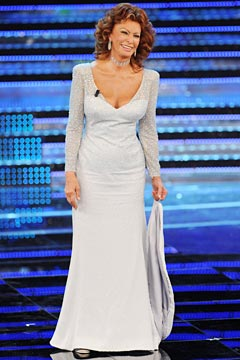 sophia loren white dress chocker miss italy