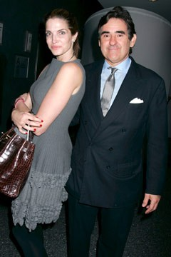Stephanie Seymour Peter Brant happy couple
