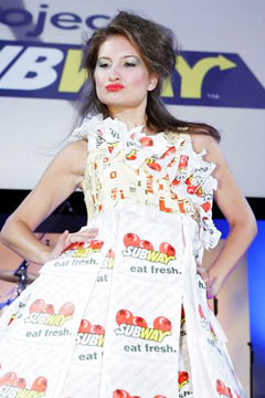 subway sandwich project dresses