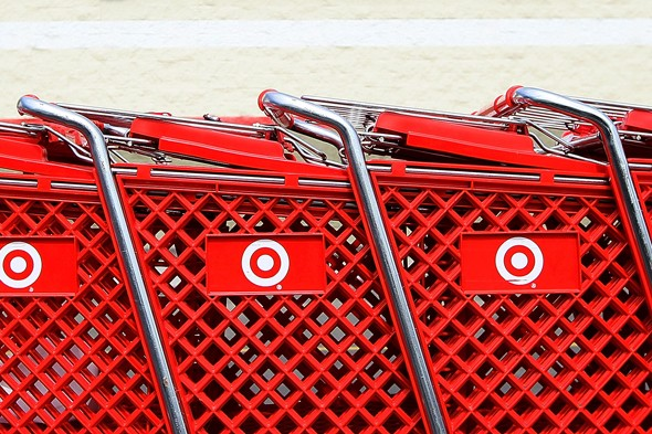 target red shopping carts