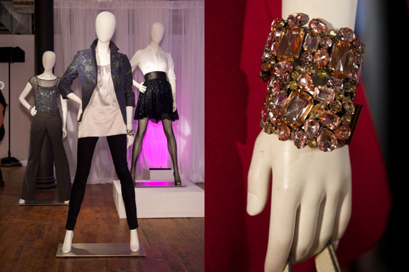 the limited holiday 2011 leather jacket leggings black pink yellow gen bracelet