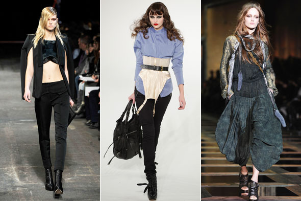 Alexander Wang crop tops L.A.M.B. Underwear as Outerwear Roberto Cavalli Harem Pants