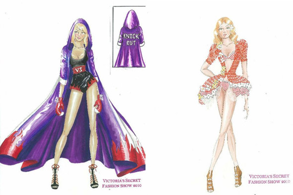 sketches Victoria's Secret Fashion Show 2010 purple cape