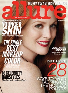 Allure November 2010 cover Julianne Moore