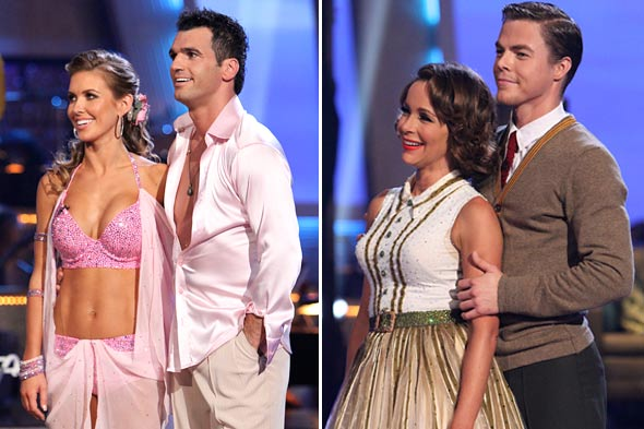 Dancing with the Stars Audrina Patridge pink bikini Tony Dovolani Jennifer Grey Derek Hough Mad Men