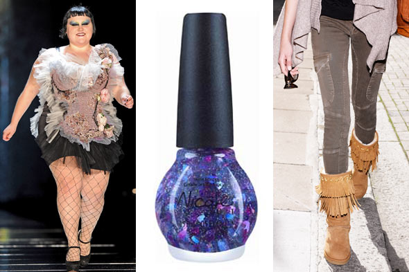 Beth Ditto Jean Paul Gaultier runway Justin Bieber nail polish UGG Jimmy Choo capsule collection
