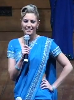 Jacinta Lal blonde hair blue eyes New Zealand's Miss India pageant
