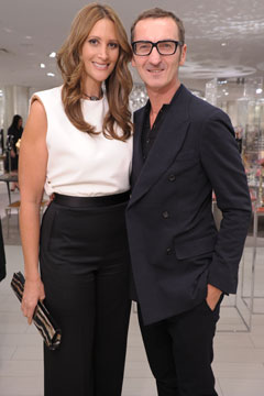Bruno Frisoni and Stephanie Winston Wolkoff Roger Vivier debut party.