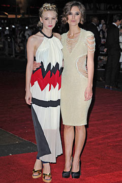 Carey Mulligan Keira Knightley London premiere 