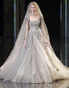 Katy Perry wedding dress Elie Saab Haute Couture fall 2010