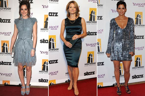 Hollywood Awards 2010 Leighton Meester Jodie Foster Halle Berry