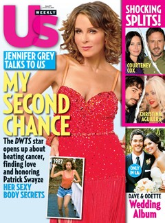Jennifer Grey Us Weekly Cover red dress