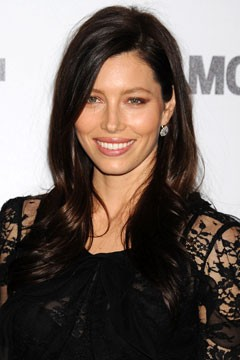 Jessica Biel brown hair