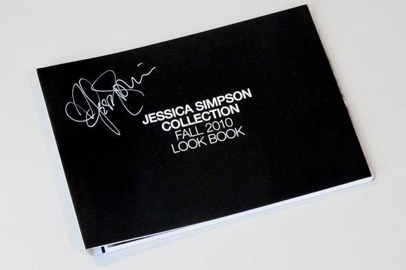 Jessica Simpson signed Fall 2010 Look Book