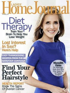 Ladies Home Journal November 2010 Meredith Vieira blue dress