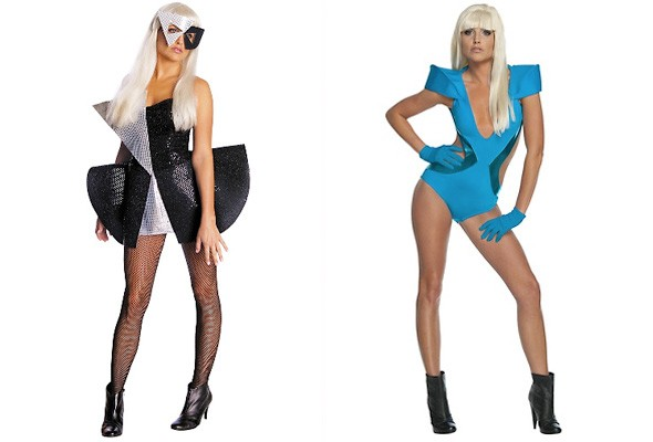 Lady Gaga Halloween Costumes Party City Black Silver Sequin Dress Blue Bathing Suit