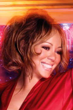 Mariah Carey for HSN red robe