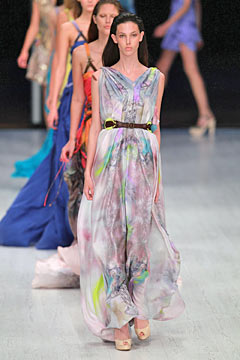 Matthew Williamson Spring 2011 runway London Fashion Week bright colors