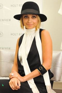 Nicole Richie promoting Fall 2010 collection Winter Kate
