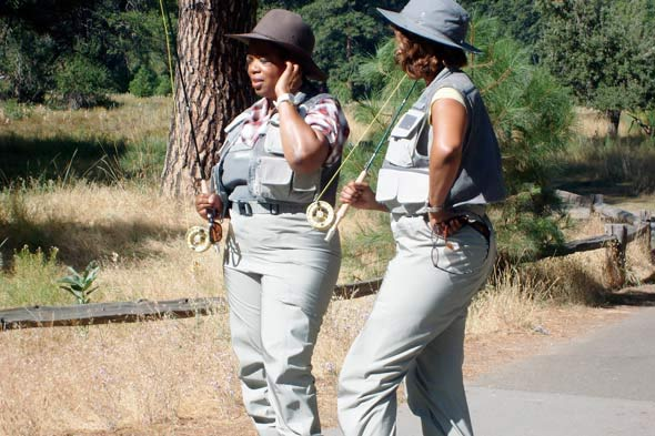Oprah best friend Gayle King fishing camping trip Yosemite National Park