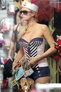 Paris Hilton Skimpy Sailor Costume