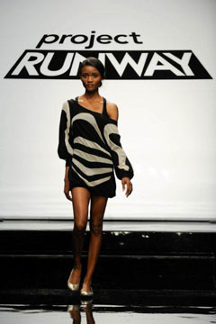 Project Runway season 8 episode 11 contestant Andy South winning look 