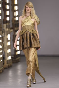 Rodarte Spring 2011 runway gold ensemble