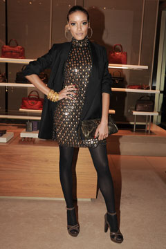Selita Ebanks Salvatore Ferragamo New Yorkers for Children event
